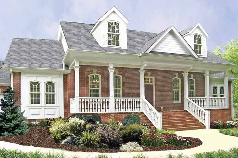 Country Exterior - Front Elevation Plan #314-230