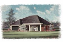 Dream House Plan - Country Exterior - Front Elevation Plan #15-340