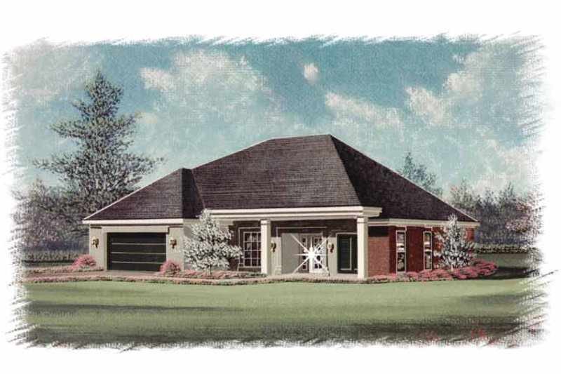 Country Exterior - Front Elevation Plan #15-340