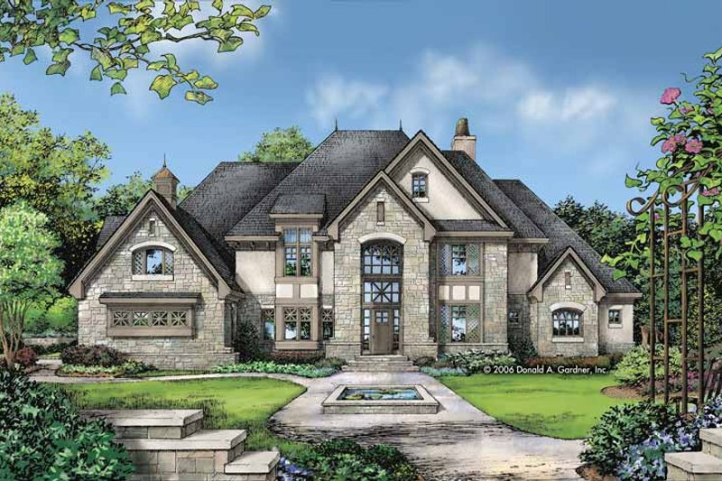 Architectural House Design - European Exterior - Front Elevation Plan #929-813