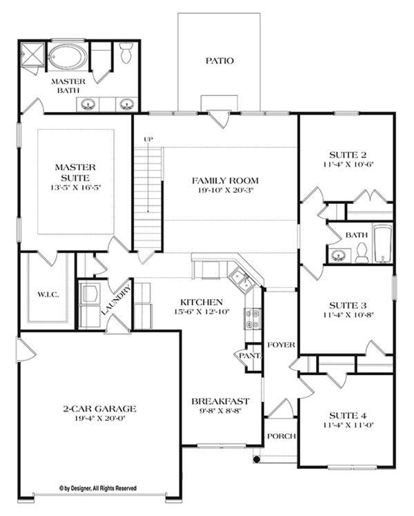 Dream House Plan - Ranch Floor Plan - Main Floor Plan #453-630