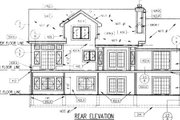 Country Style House Plan - 3 Beds 2.5 Baths 1847 Sq/Ft Plan #50-198 Exterior - Rear Elevation