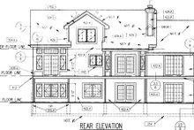 Home Plan Design - Country Exterior - Rear Elevation Plan #50-198