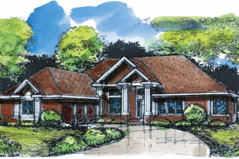Ranch Exterior - Front Elevation Plan #320-643