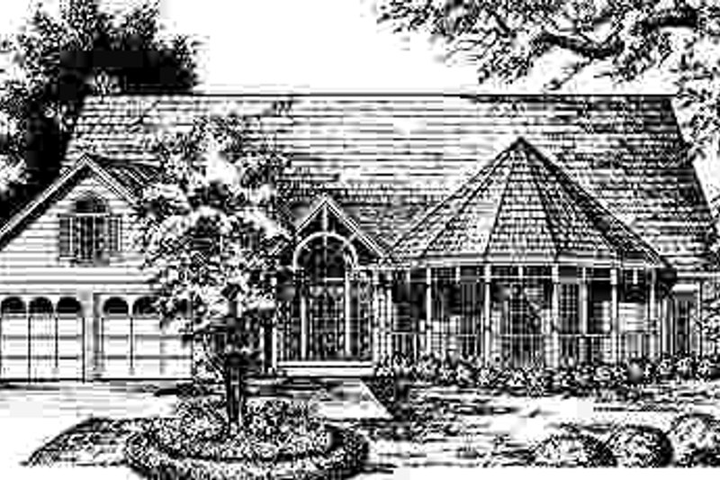 Country Exterior - Front Elevation Plan #40-179 - Houseplans.com