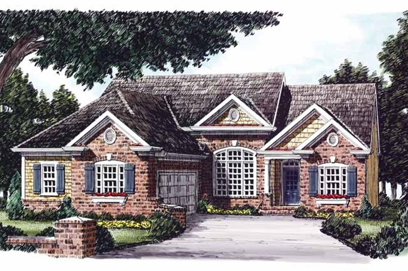 Traditional Exterior - Front Elevation Plan #927-831 - Houseplans.com
