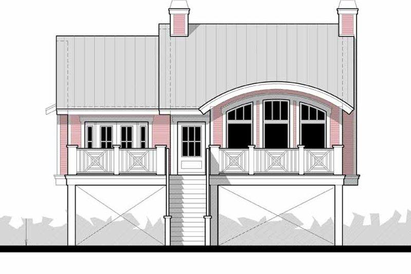 Beach Exterior - Front Elevation Plan #64-283 - Houseplans.com