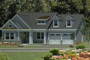 Dream House Plan - Craftsman Exterior - Front Elevation Plan #316-274