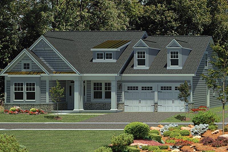 Architectural House Design - Craftsman Exterior - Front Elevation Plan #316-274