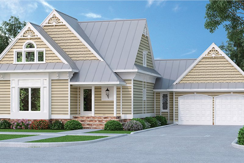 Country Exterior - Front Elevation Plan #45-399 - Houseplans.com