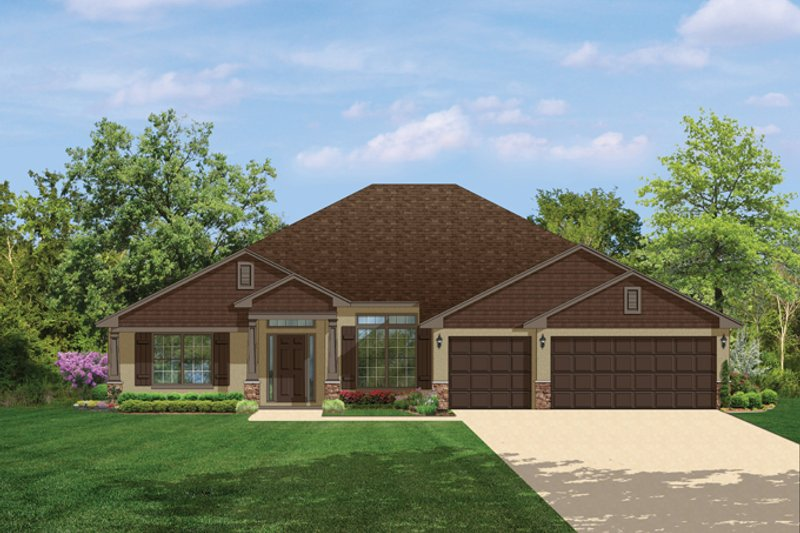 Craftsman Style House Plan - 4 Beds 3 Baths 2508 Sq/Ft Plan #1058-51