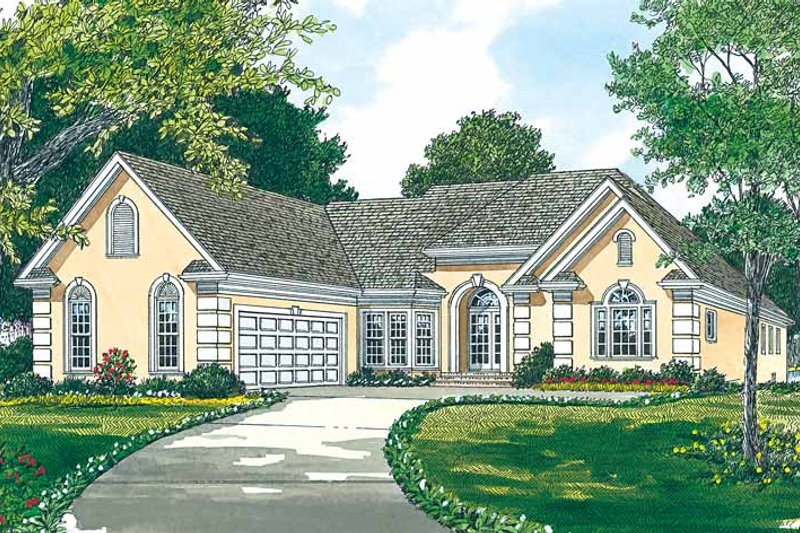 Mediterranean Exterior - Front Elevation Plan #453-95 - Houseplans.com