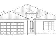 Architectural House Design - Mediterranean Exterior - Front Elevation Plan #1058-57