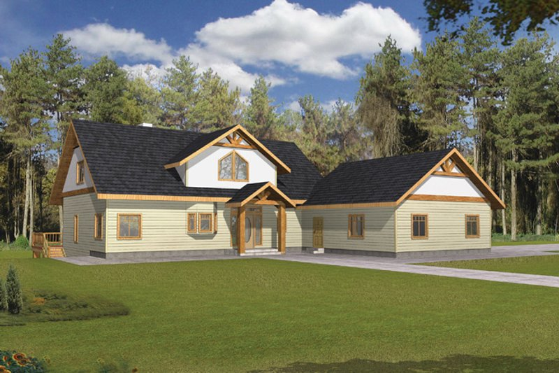 Craftsman Exterior - Front Elevation Plan #117-841 - Houseplans.com