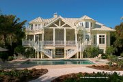 Country Style House Plan - 5 Beds 5 Baths 4038 Sq/Ft Plan #930-472 Exterior - Rear Elevation