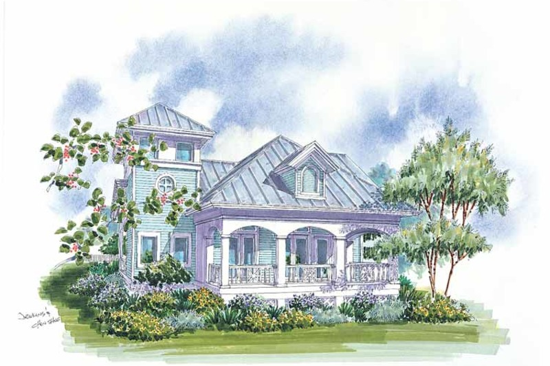 Country Exterior - Rear Elevation Plan #930-62 - Houseplans.com