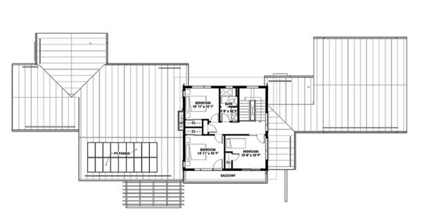 Architectural House Design - Prairie Floor Plan - Upper Floor Plan #1042-17