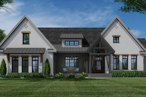 Farmhouse Exterior - Front Elevation Plan #51-1157