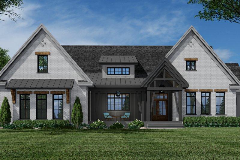 Architectural House Design - Farmhouse Exterior - Front Elevation Plan #51-1157