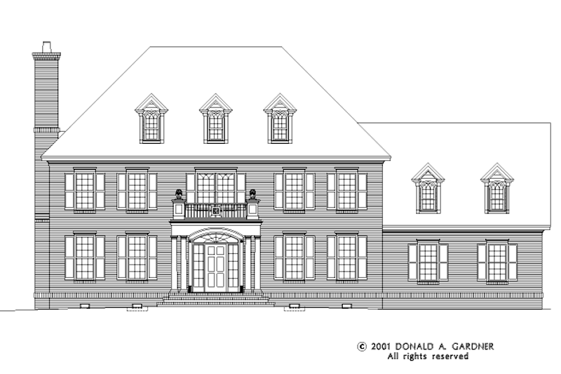 Classical Exterior - Front Elevation Plan #929-626