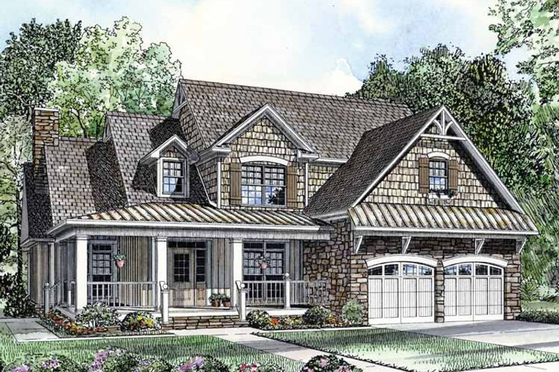 Country Exterior - Front Elevation Plan #17-2767 - Houseplans.com
