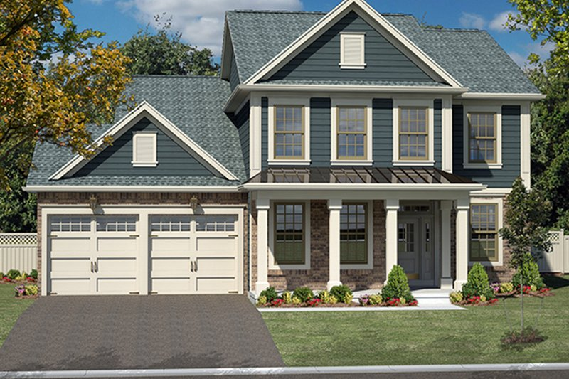 Architectural House Design - Traditional Exterior - Front Elevation Plan #316-275