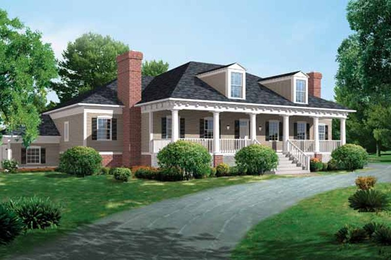 Classical Exterior - Front Elevation Plan #72-816 - Houseplans.com
