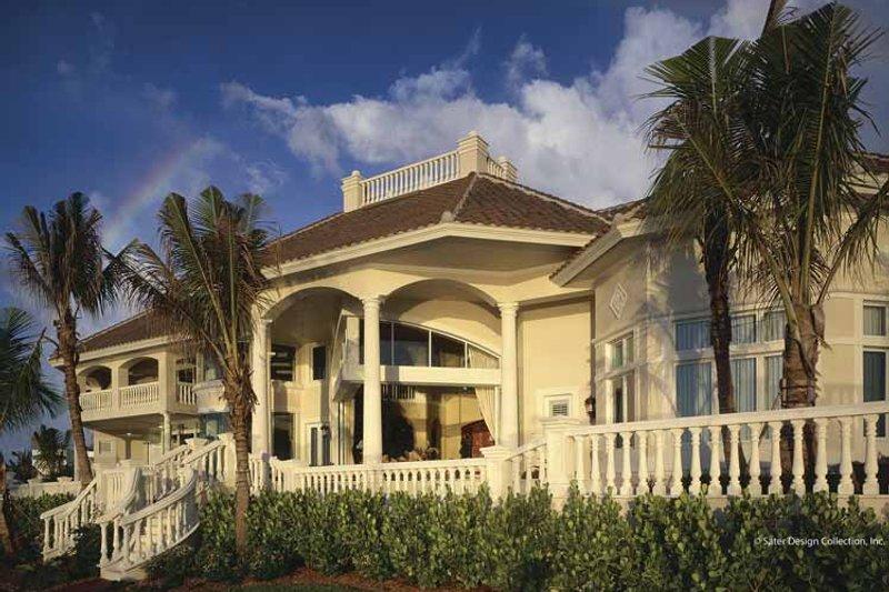 House Plan Design - Mediterranean Exterior - Rear Elevation Plan #930-412