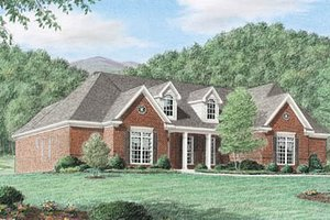 Home Plan - Traditional Exterior - Front Elevation Plan #34-116