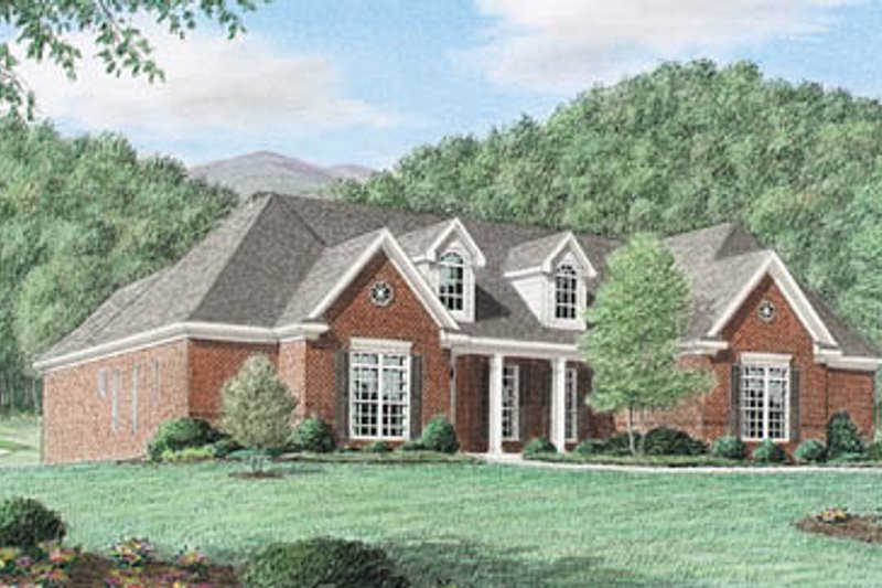 House Plan Design - Traditional Exterior - Front Elevation Plan #34-116