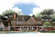 House Plan Design - European Exterior - Rear Elevation Plan #952-207