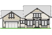 Craftsman Style House Plan - 3 Beds 2.5 Baths 2494 Sq/Ft Plan #458-10 Exterior - Other Elevation