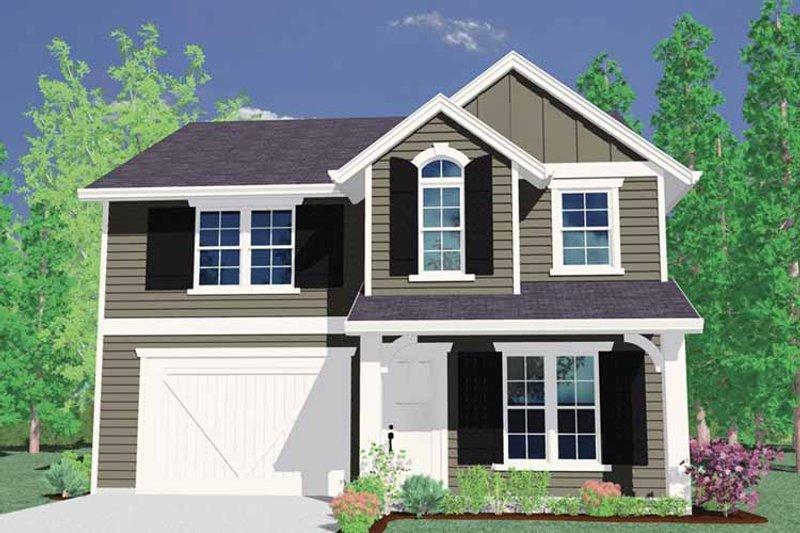 Prairie Exterior - Front Elevation Plan #509-224
