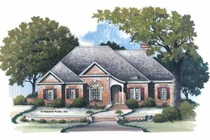 Architectural House Design - Traditional Exterior - Front Elevation Plan #429-104