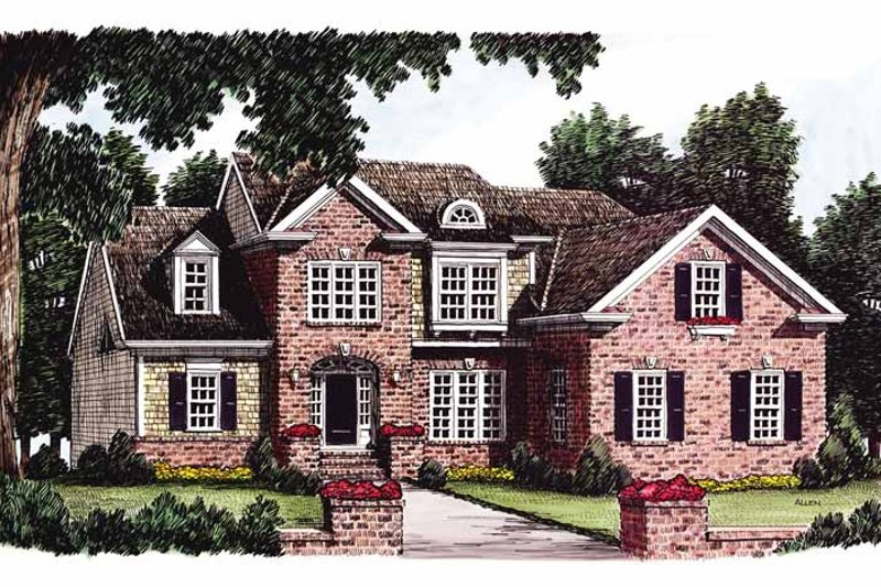 Colonial Exterior - Front Elevation Plan #927-764