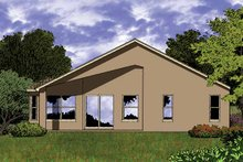 House Plan Design - Contemporary Exterior - Rear Elevation Plan #1015-33