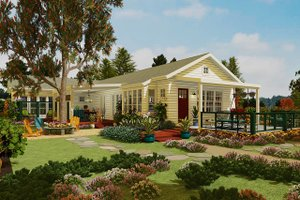 Country Exterior - Front Elevation Plan #917-43