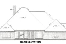 Home Plan - European Exterior - Rear Elevation Plan #310-668