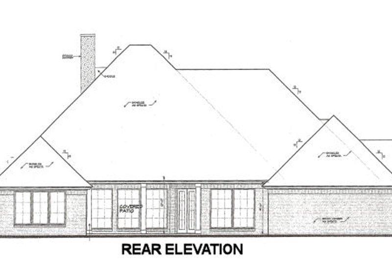 European Exterior - Rear Elevation Plan #310-668 - Houseplans.com