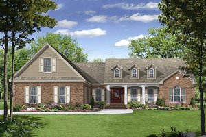 Country Exterior - Front Elevation Plan #21-245