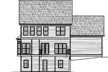 Colonial Exterior - Rear Elevation Plan #119-280