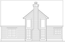 Dream House Plan - Craftsman Exterior - Rear Elevation Plan #48-536