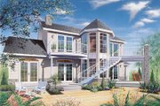 Country Style House Plan - 3 Beds 2.5 Baths 1917 Sq/Ft Plan #23-252 Exterior - Front Elevation