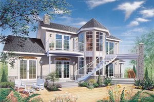 Country Exterior - Front Elevation Plan #23-252