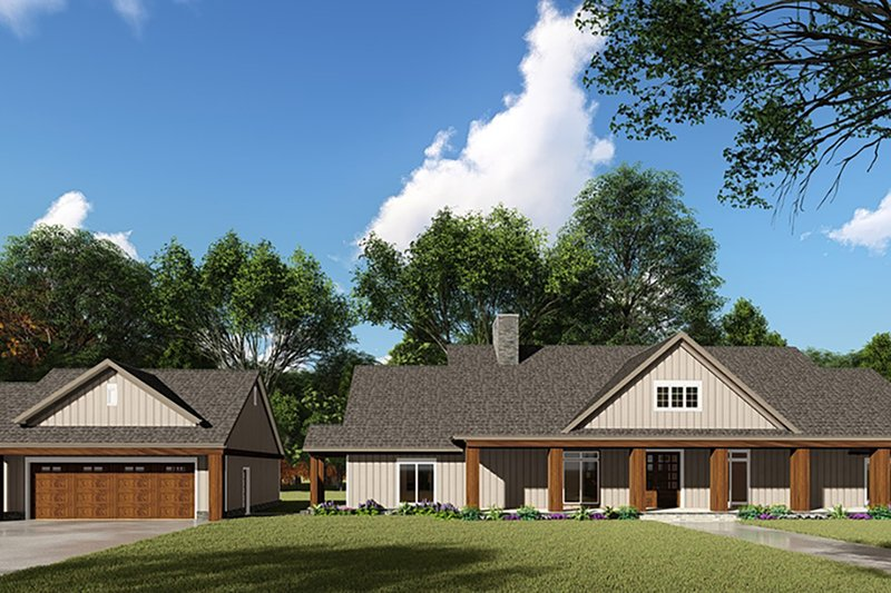 Craftsman Style House Plan - 3 Beds 2.5 Baths 2191 Sq/Ft Plan #923-142 Exterior - Front Elevation