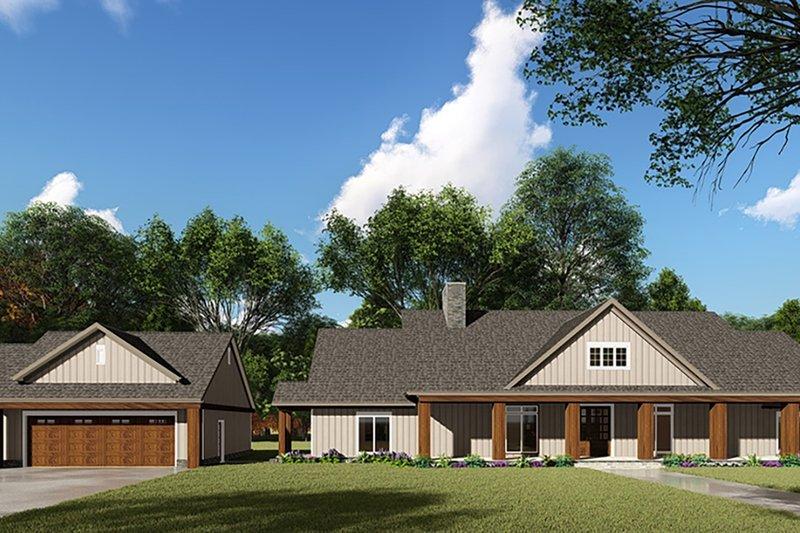 Home Plan - Craftsman Exterior - Front Elevation Plan #923-142