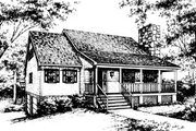 Country Style House Plan - 3 Beds 2 Baths 1760 Sq/Ft Plan #10-229 Exterior - Front Elevation