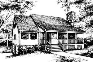 Country Exterior - Front Elevation Plan #10-229