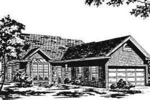 Cottage Exterior - Front Elevation Plan #30-159