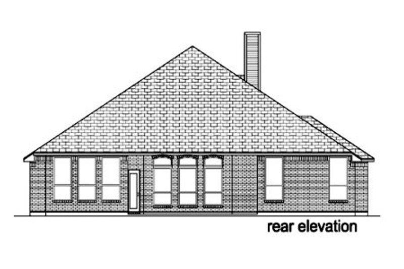 European Exterior - Rear Elevation Plan #84-371 - Houseplans.com